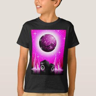 ilustração da música com a bola do auto-falante e tshirts
