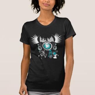 ilustração da música com auto-falante e asas tshirt
