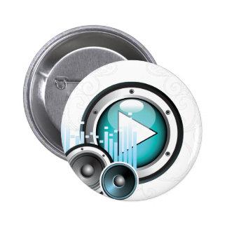 ilustração da música com auto-falante e elemento bóton redondo 5.08cm