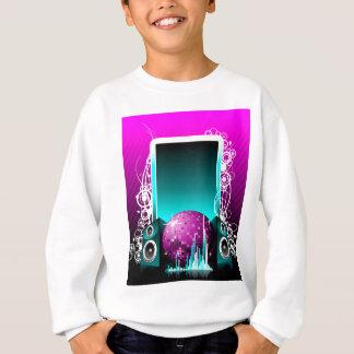ilustração da música com auto-falante e elemento camisetas