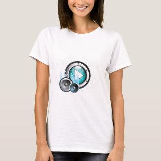 ilustração da música com auto-falante e elemento t-shirt
