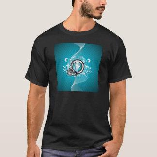 ilustração da música com auto-falante e elemento tshirt