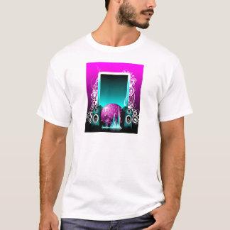 ilustração da música com auto-falante e elemento tshirts