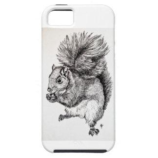 Ilustração da tinta do esquilo no caso do iPhone 5 Capa Tough Para iPhone 5