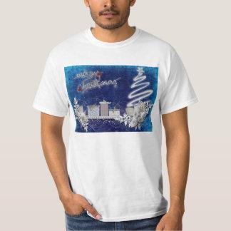 Ilustração do azul do Feliz Natal Tshirt