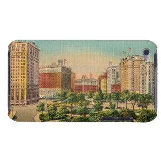 Ilustração do cartão do vintage de Detroit Capas iPod Barely There