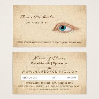 Ilustração do clássico da nomeação do olho do cartão de visitas