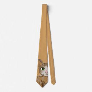 Ilustração do gato de Brown Gravata