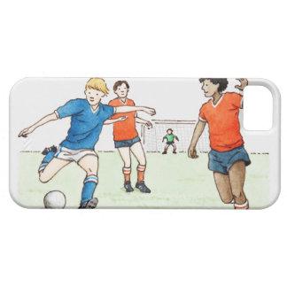 Ilustração do jogo dos jogadores de futebol capa para iPhone 5