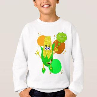 Ilustração do monstro do milho com bolha da tshirt