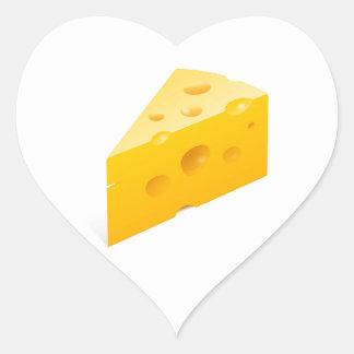 Ilustração do queijo adesivo coração