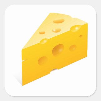 Ilustração do queijo adesivo quadrado