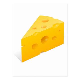 Ilustração do queijo cartão postal