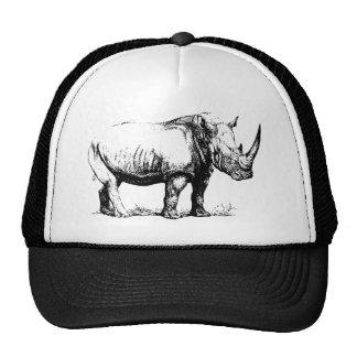 Ilustração do rinoceronte do vintage, animal boné