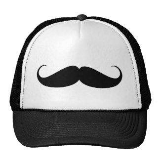 ilustração do símbolo do vintage do bigode boné
