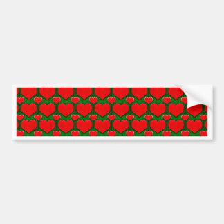 Ilustração do teste padrão do coração do Grunge Adesivo Para Carro