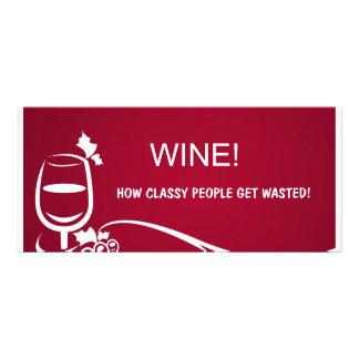 Ilustração do vinho planfeto informativo colorido