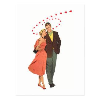 Ilustração do vintage do amor & do romance cartão postal