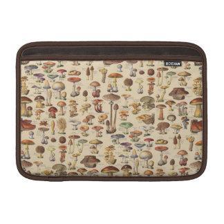 Ilustração do vintage dos cogumelos bolsas de MacBook air