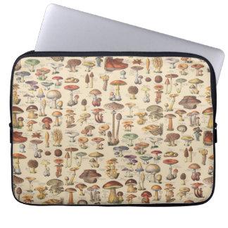 Ilustração do vintage dos cogumelos bolsas e capas para computadores