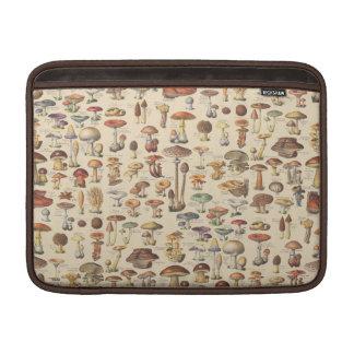 Ilustração do vintage dos cogumelos bolsas para MacBook air