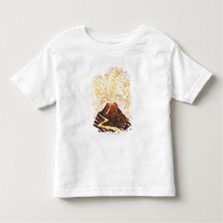 Ilustração do vulcão que entra em erupção camiseta