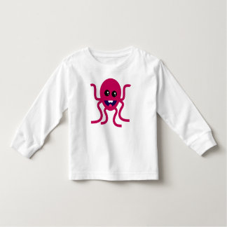 Ilustração feliz do polvo camisetas