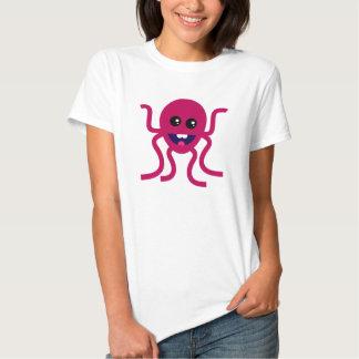 Ilustração feliz do polvo tshirts