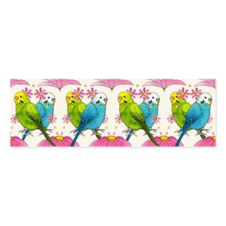 Ilustração minúscula bonito do pássaro do cartão cartão de visita skinny
