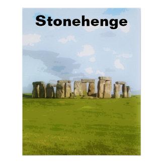 Ilustração pré-histórica de Stonehenge Poster Perfeito
