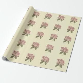Ilustração roxa do rododendro papel de presente