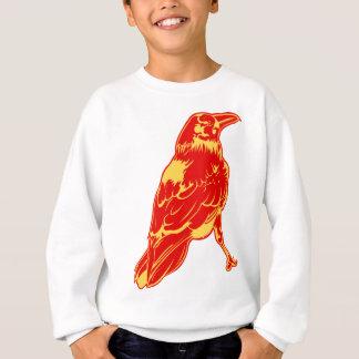 Ilustração solitária artística urbana do corvo camisetas