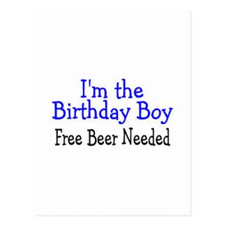 Im a cerveja livre do menino do aniversário necess cartoes postais