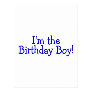 Im o azul do menino do aniversário cartão postal