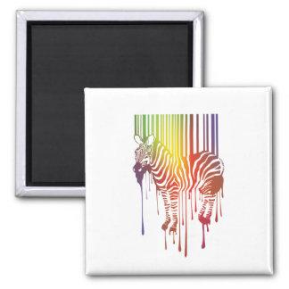 ímã abstrato da zebra ímã quadrado