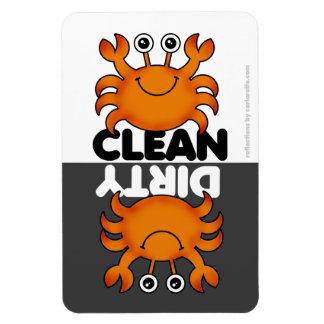 Ímã bonito da máquina de lavar louça do caranguejo foto com ímã retangular