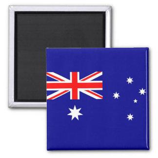 Ímã com a bandeira de Austrália Ímã Quadrado