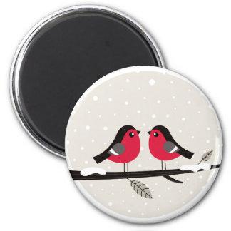 Ímã com os pássaros bonitos da arte ímã redondo 5.08cm