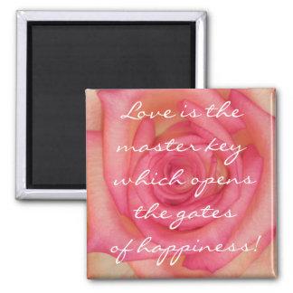 Ímã cor-de-rosa do amor imã