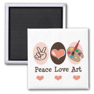 Ímã da arte do amor da paz ima de geladeira