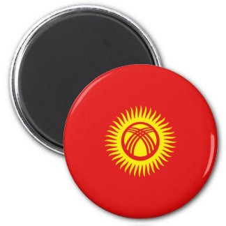 Ímã da bandeira de Quirguistão Fisheye Ímã Redondo 5.08cm
