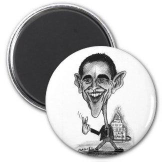 Ímã da caricatura de Obama Ímã Redondo 5.08cm