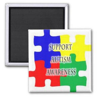 Ímã da consciência do autismo do apoio ímã quadrado