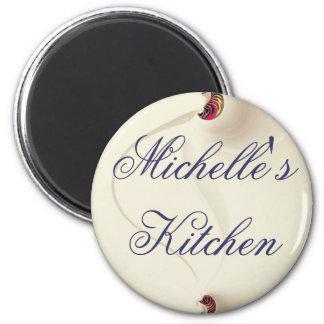 Ímã da cozinha de Michelle Ímã Redondo 5.08cm