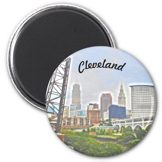 Ímã da essência de Cleveland (opinião de banco de Ímã Redondo 5.08cm