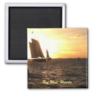 Ímã da foto do por do sol de Key West Ímã Quadrado