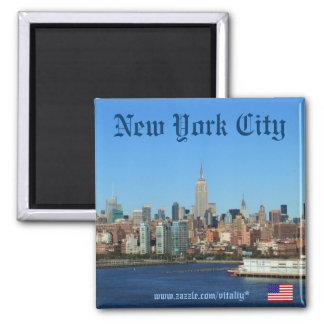 Ímã da fotografia da skyline da Nova Iorque Ímã Quadrado