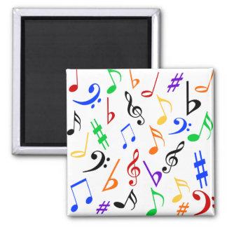 Ímã das notas musicais - multi imãs