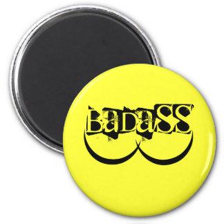 Ímã de BADASS (amarelo) Ímã Redondo 5.08cm
