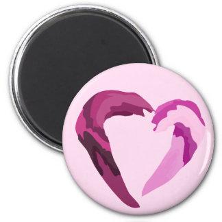 ímã de derretimento do coração roxo imãs de refrigerador